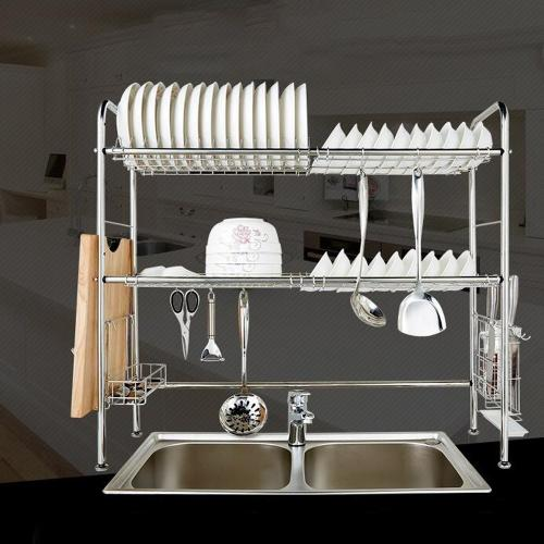 Nex Dish Rack Stainless Steel 2 Tier Dish Drainer Double Grooves My Celltronics